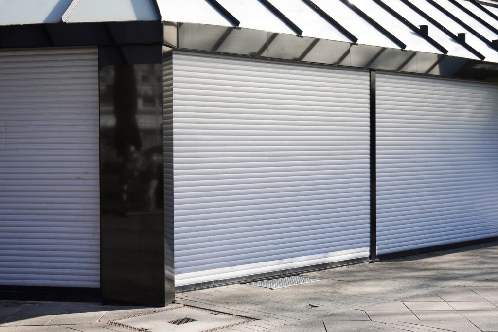 Luxury house with roller shutter